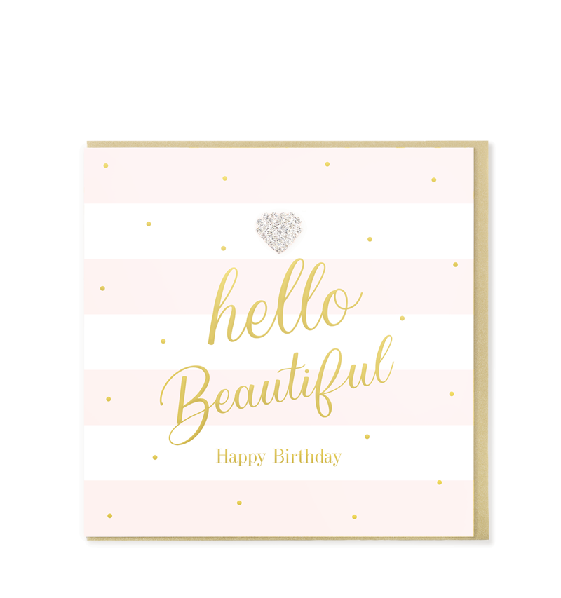 Mad Dots Greetings Card, Hello Beautiful, Happy Birthday