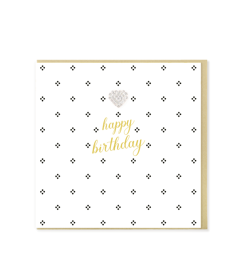 Mad Dots Greetings Card, Happy Birthday