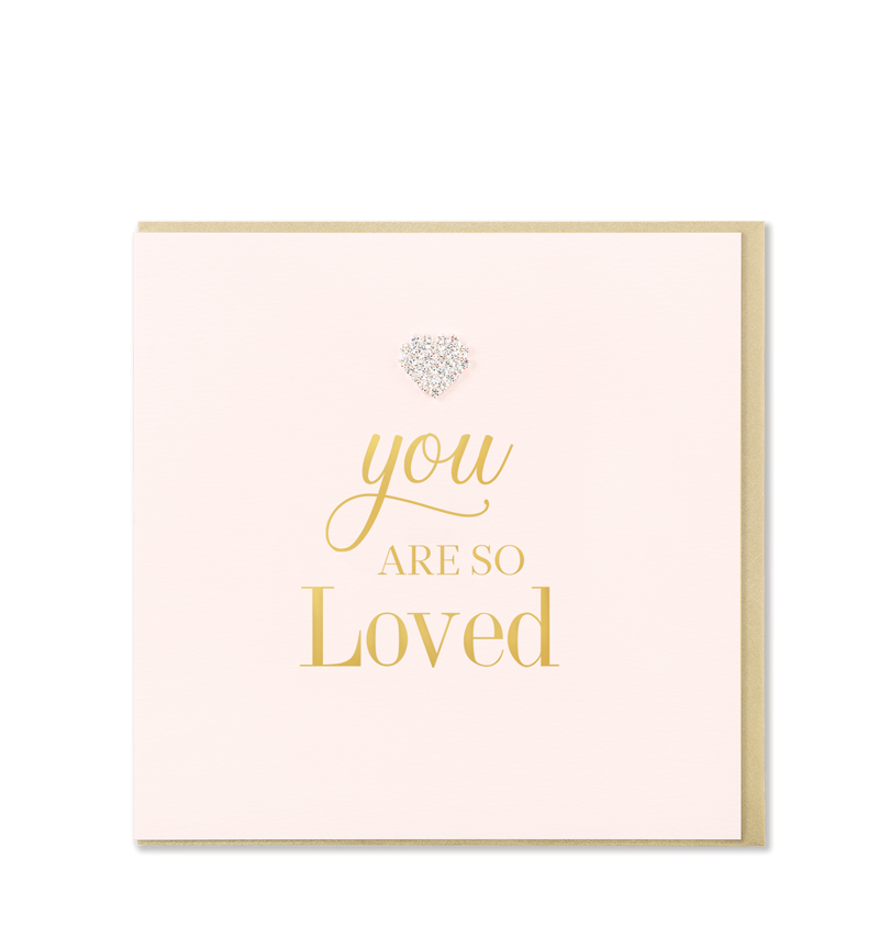Mad Dots Greetings Card, You Are So Loved.