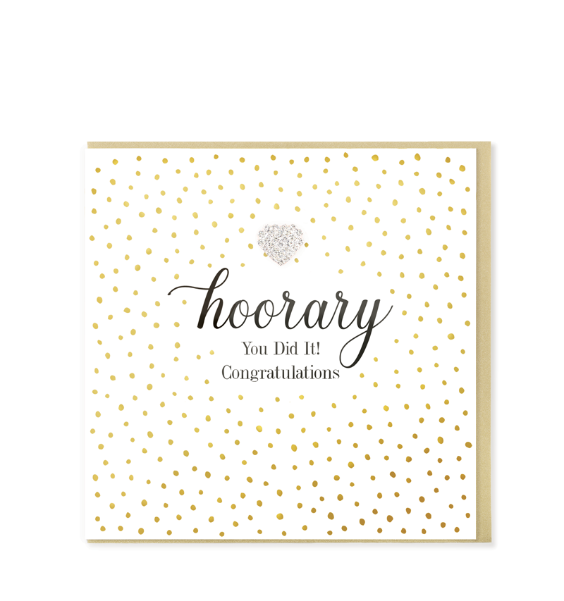 Mad Dots Greetings Card, Hooray You did It! Congratulations