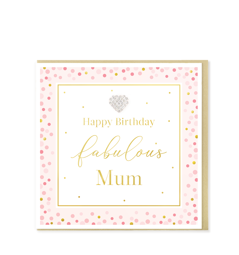 Mad Dots Greetings Card, Happy Birthday Fabulous Mum