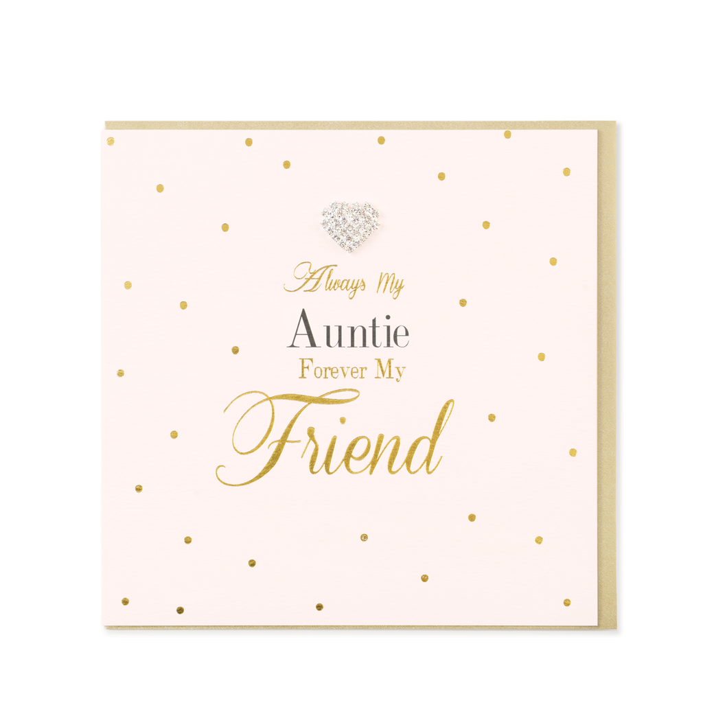Mad Dots Greetings Card, Always My Auntie Forever My Friend