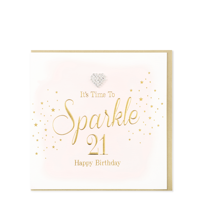 Mad Dots Greetings Cards, Time To Sparkle 21, Happy Birthday