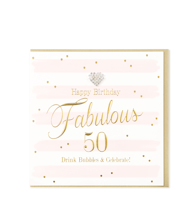 Mad Dots Greetings Cards, Happy Birthday Fabulous 50