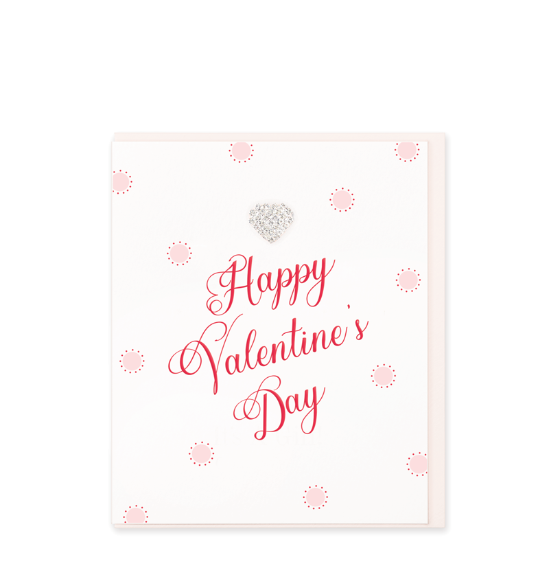 Mad Dots Greetings Card, Happy Valentine's Day