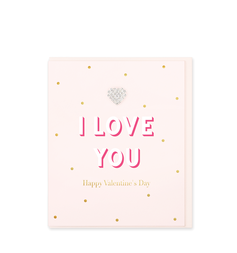 Mad Dots Greetings Card, I Love You