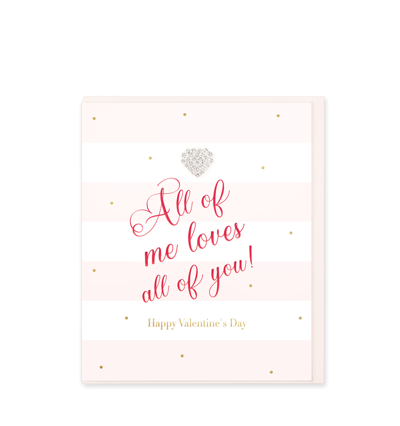 Mad Dots Greetings Card, All Of Me Loves All Of You