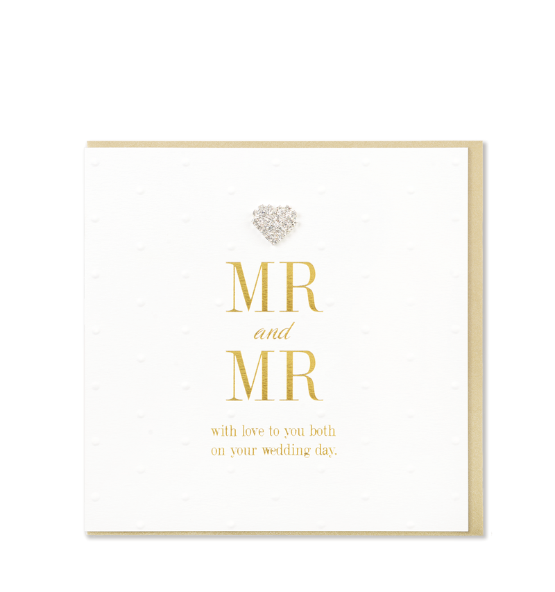 Mad Dots Greetings Card, Mr & Mr Wedding Day