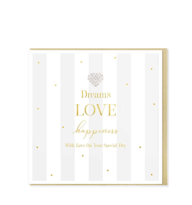 Mad Dots Greetings Card, Love Dreams Happiness, On Your Special Day