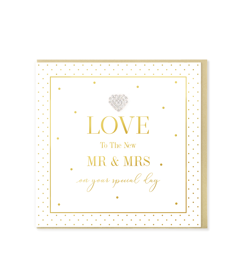 Mad Dots Greetings Card, LOVE To The New Mr & Mrs
