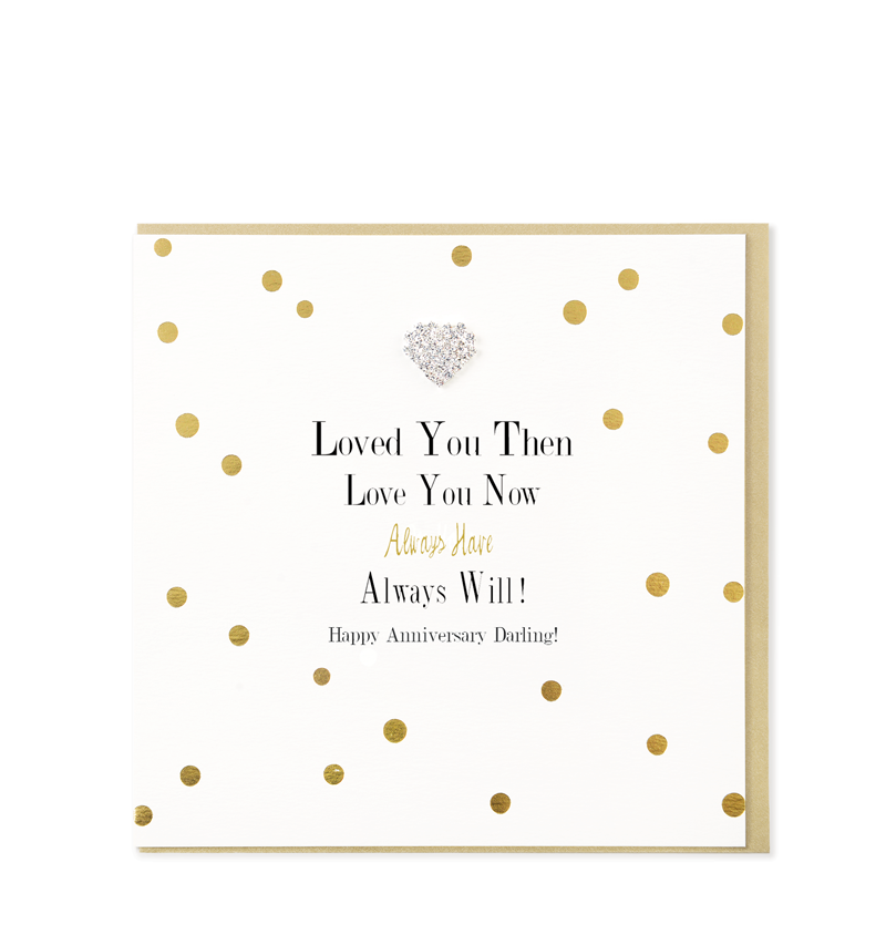 Mad Dots Greetings Card, Love You Then Love You Now, Anniversary