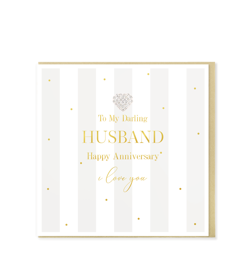 Mad Dots Greetings Card, Happy Anniversary Husband
