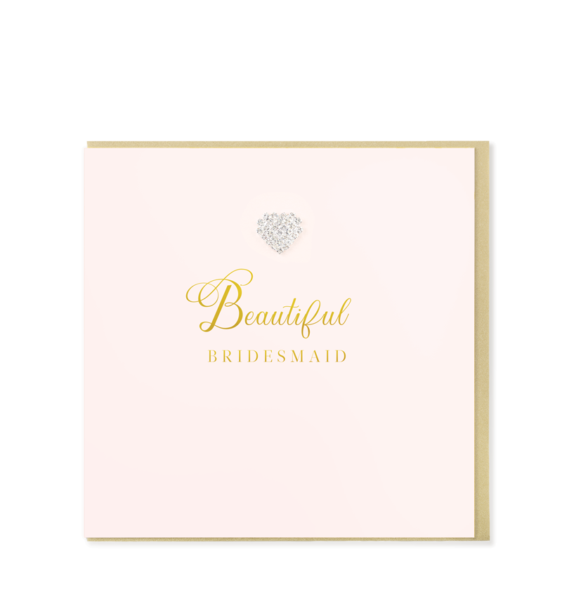 Mad Dots Greetings Card, Beautiful Bridesmaid