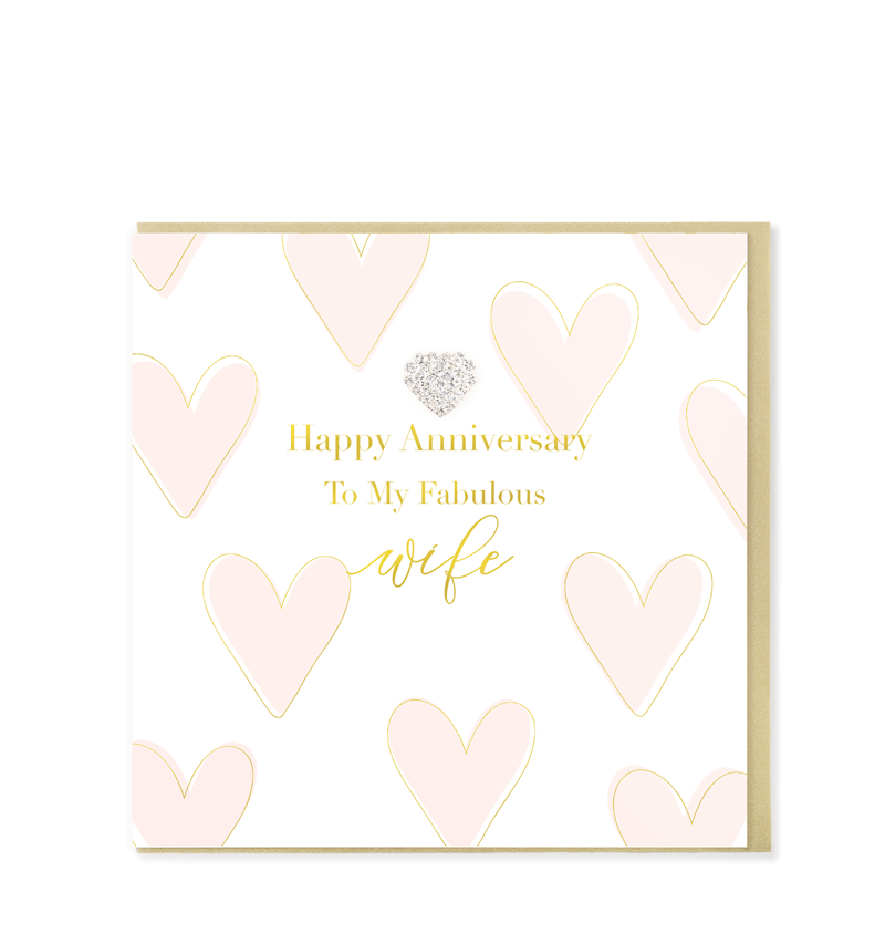 Mad Dots Greetings Card, Fabulous Wife Anniversary
