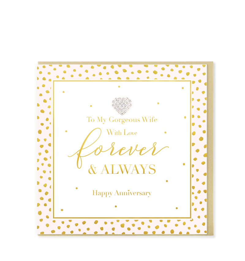 Mad Dots Greetings Card, Forever & Always, Wife Anniversary