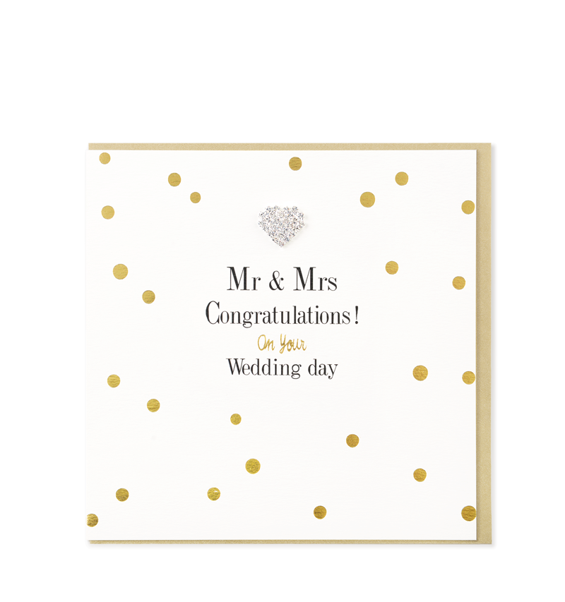 Congratulations On Your Wedding Day.Mad Dots Greetings Card Mr Mrs Congratulations On Your Wedding