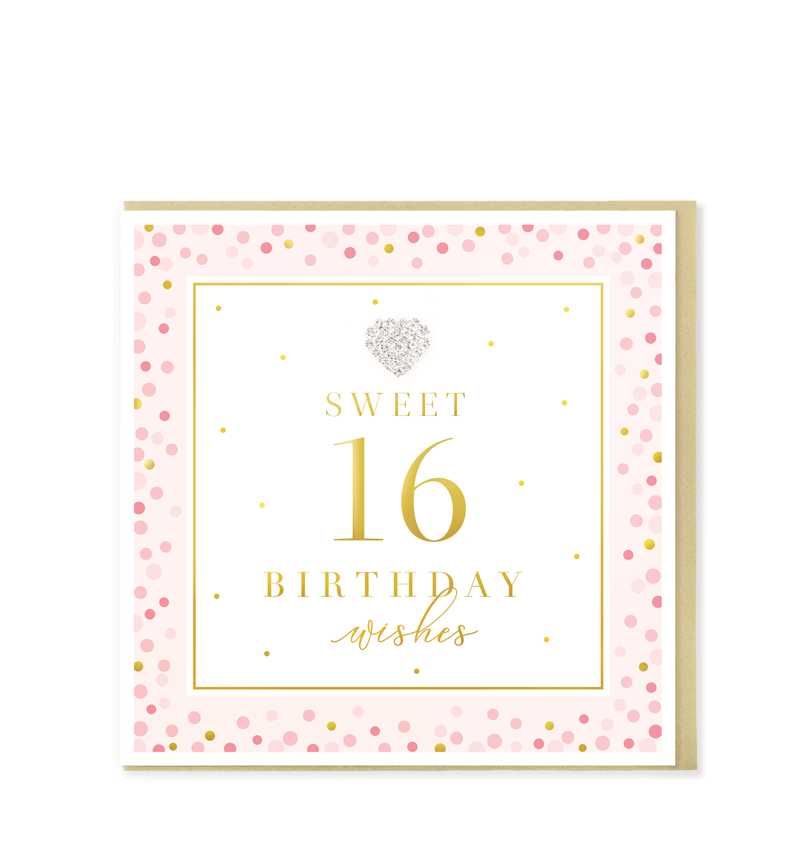 Mad Dots Greetings Card, Sweet 16 Birthday Wishes