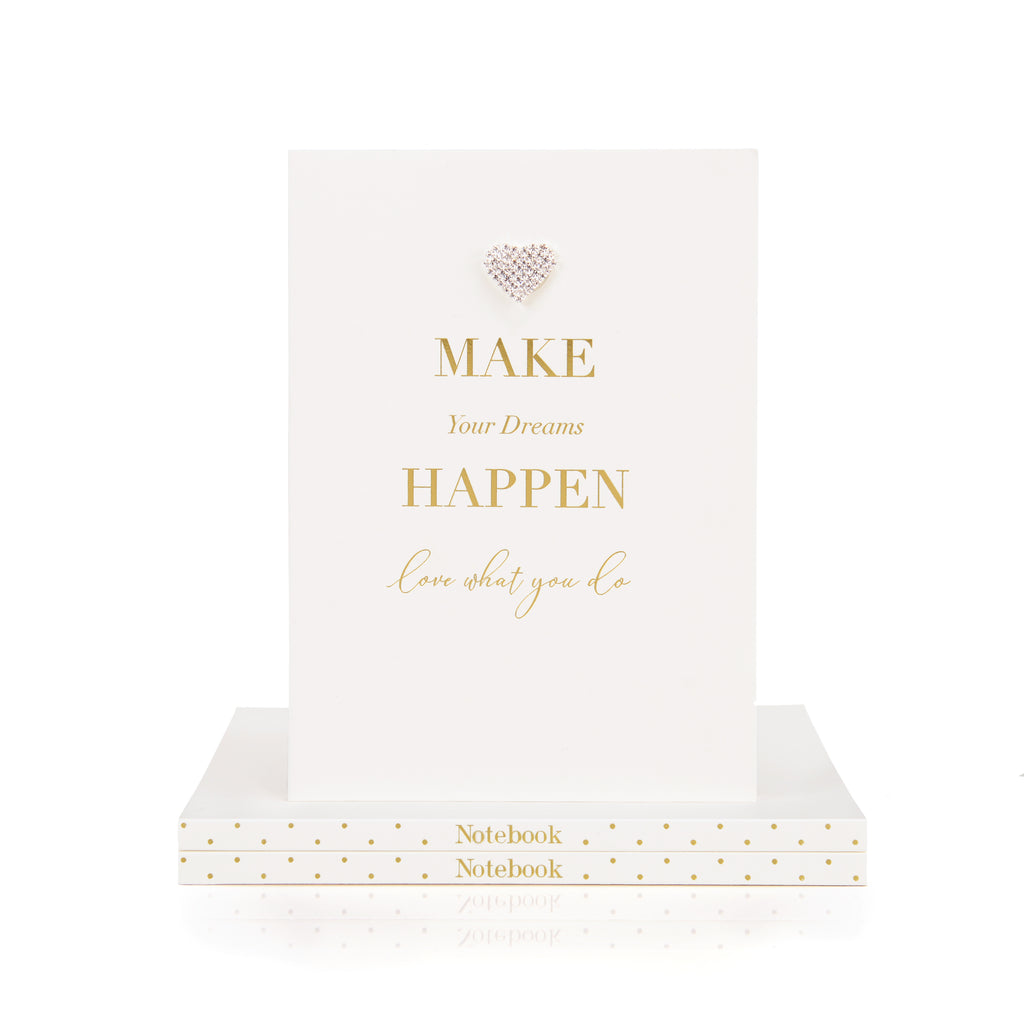 Mad Dots A5 Notebook, Make Your Dreams Happen