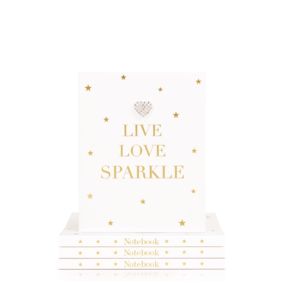 Mad Dots Small Notebook, Live Love Sparkle