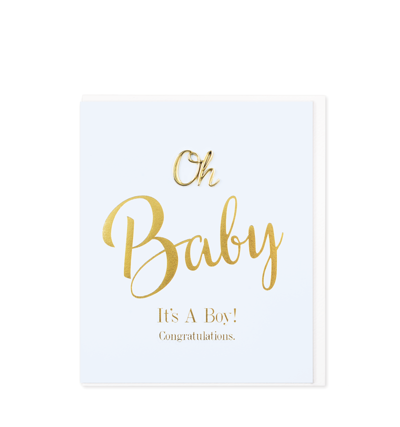 Oh So Charming Greetings Card, Oh Baby Boy!