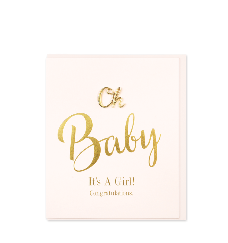 Oh So Charming Greetings Card, Oh Baby Girl!
