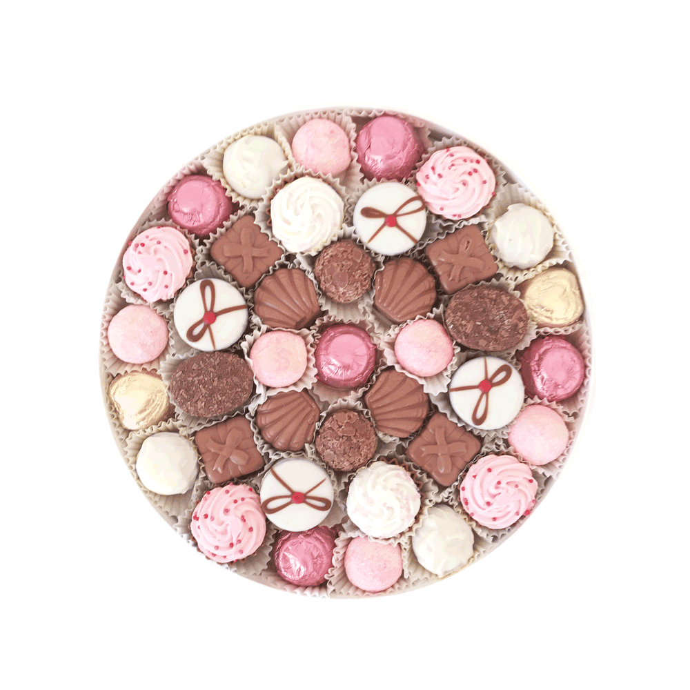 Mad Dots Large Round Chocolate Box, Especially For You, Pink