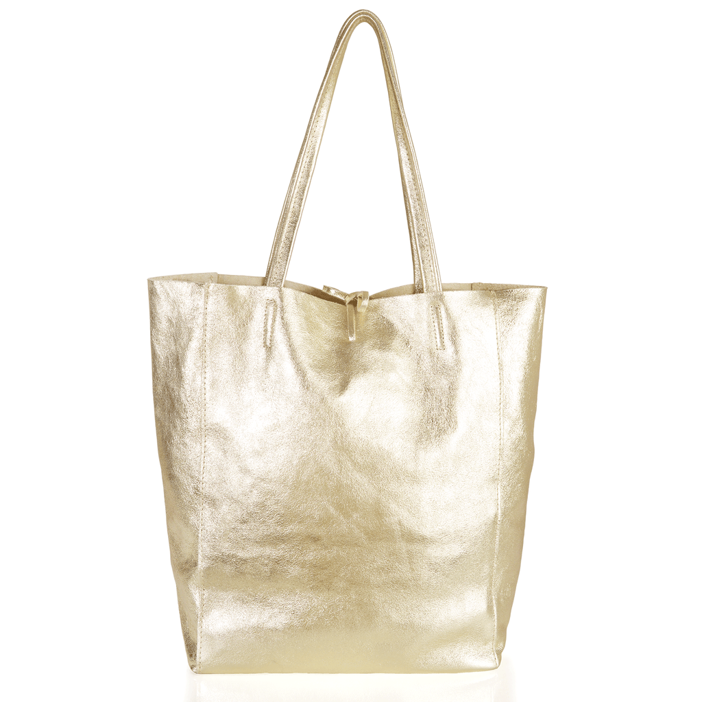 Tilbury Leather Shopper Bag, Metallic Gold