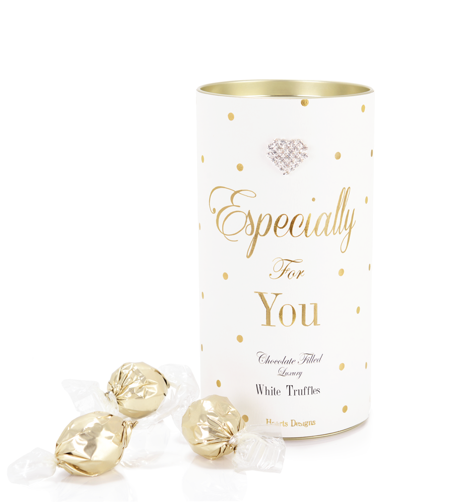 Mad Dots White Chocolate Luxury Truffle Tin, Especially For You, White