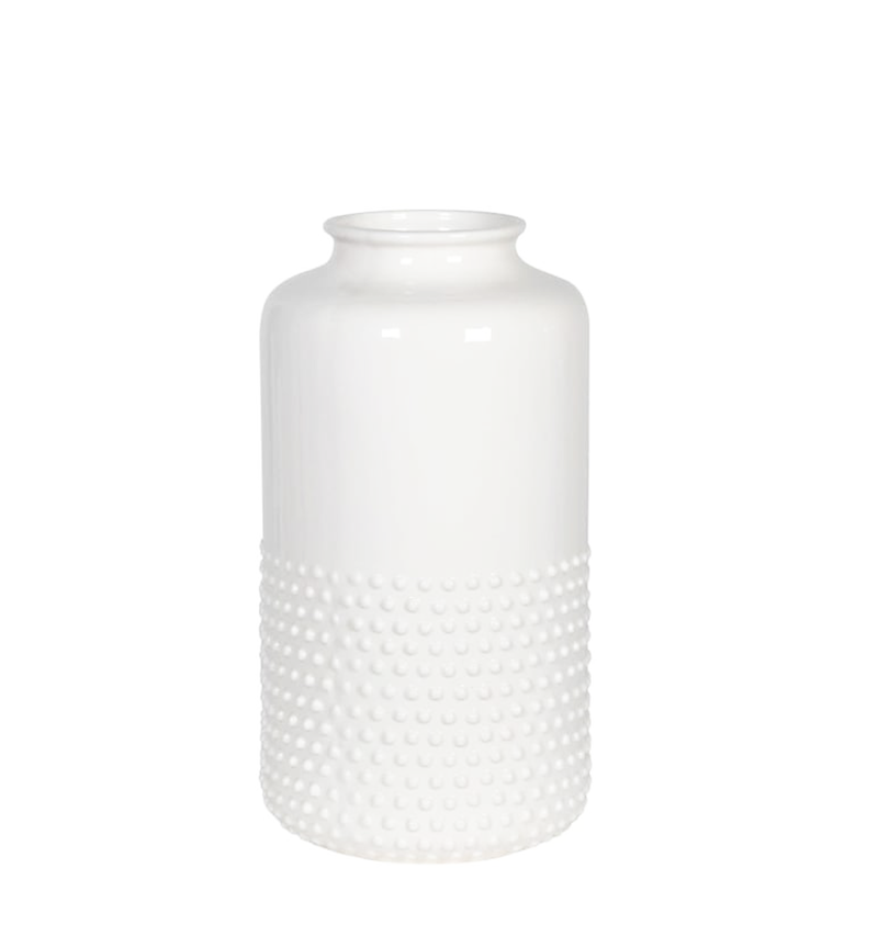 Modern Ceramic Large White Vase