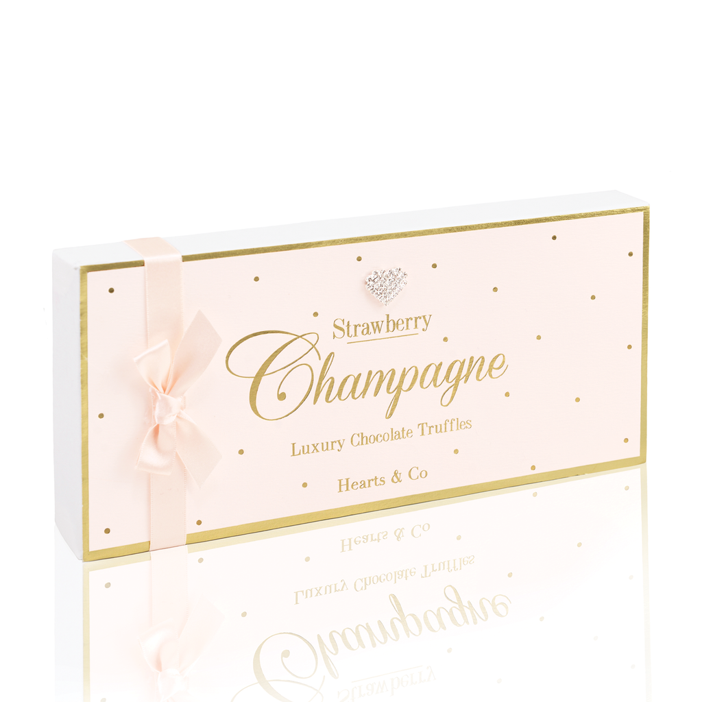Mad Dots Luxury Strawberry Champagne Chocolate Truffle Box