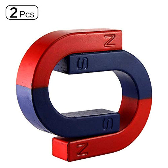 U Shape Horseshoe Magnets Strong for School Educational Teaching Projects 2Pcs