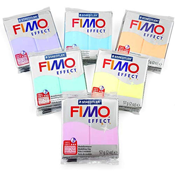 Made in Germany FIMO Effect Polymer Peçdə bişirməli - 6 x 2 oz Block- 6-lıq set
