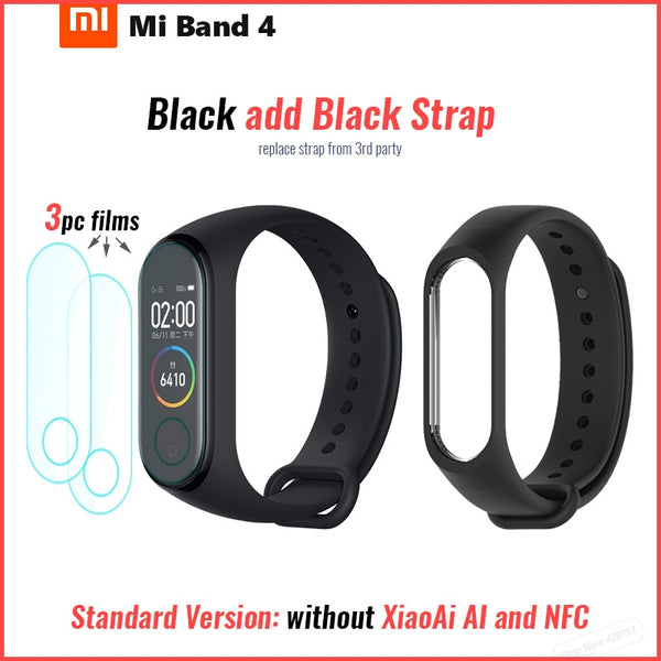 Original Xiaomi Mi Band 4 Smart Bluetooth 5.0 Wristband Fitness Bracelet AMOLED Color Touch Screen Music AI Heart Rate