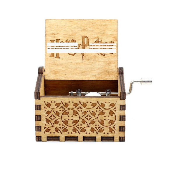 Wooden Hand Crank  Music Box Christmas Gift Birthday Gift Party Casket Anonymity Decoration