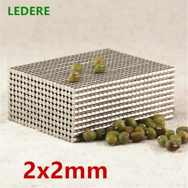 1000pcs 2000pcs  2mm x 2 mm Strong Round Magnets Dia 2x2 Neodymium Magnet Rare Earth Magnet 2*2   2x2mm
