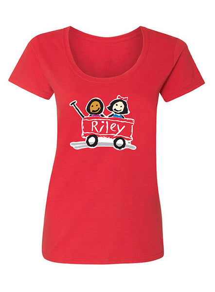 Ladies' Riley Softstyle Scoop Neck Cotton T-Shirt