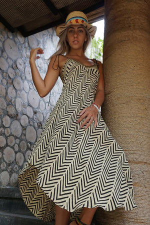 Chevron Strappy Dress