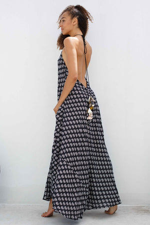 Pompom Backless Maxi