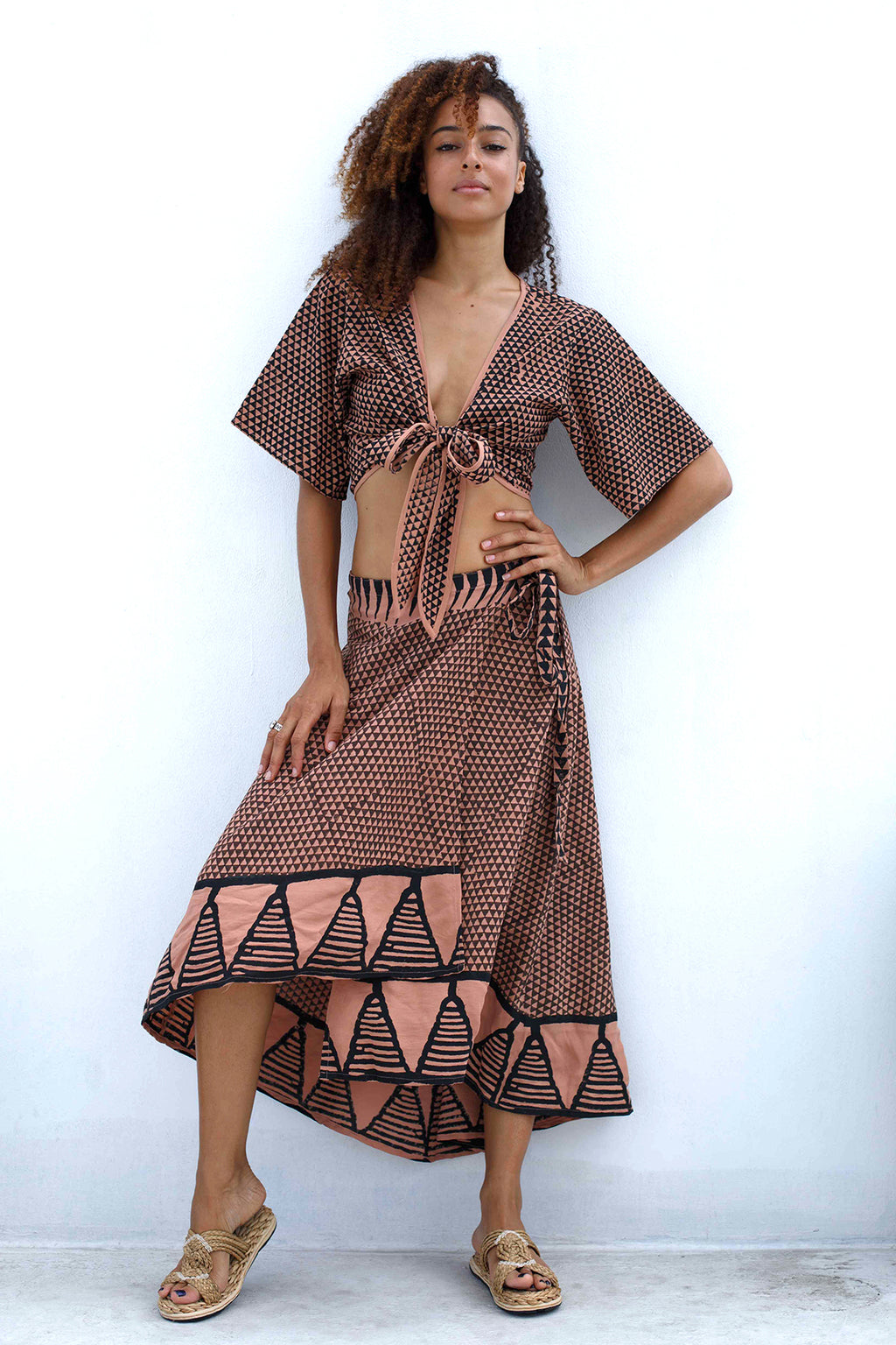 Tribal Wrap Skirt