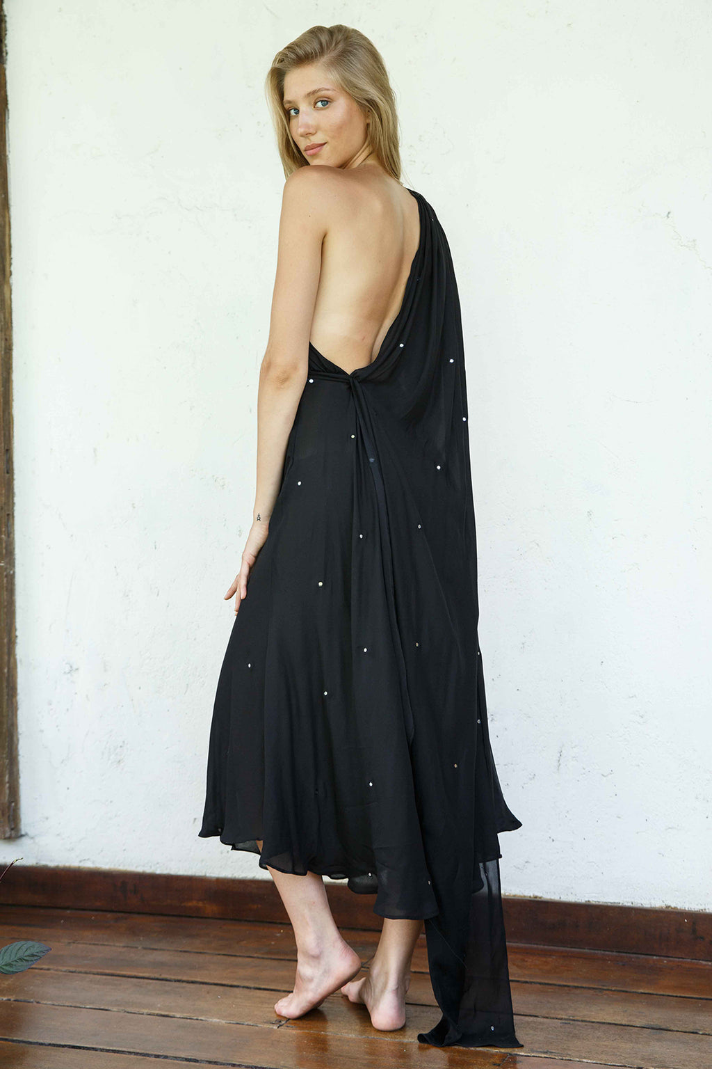 Backless Saree Dress