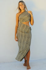Chevron Saree Dress