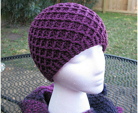 Diamond Ridge Crochet Hat