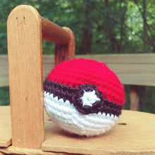 Load image into Gallery viewer, Crochet Pokeball