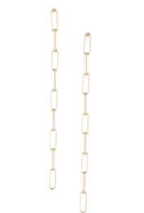 "3"" Gold Chain Link Earrings"