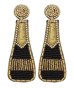 Black Champs Earrings - MSP Miss Smarty Pants