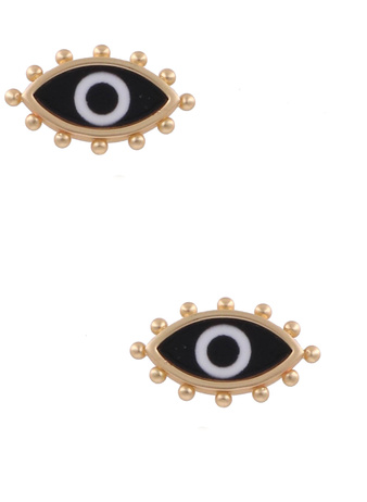Black Evil Eye Earrings