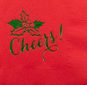 Cheers Christmas Cocktail Napkin
