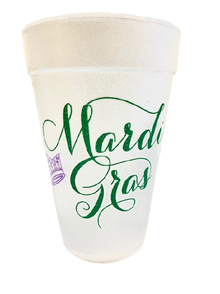 Crown Mardi Gras Styro Cups