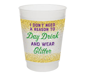 Day Drink Wear Glitter Frosted Cups