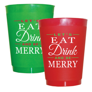 Eat Drink Merry Frosted Cups